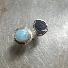 Load image into Gallery viewer, Aquamarine and Beach Stone, size 8-9