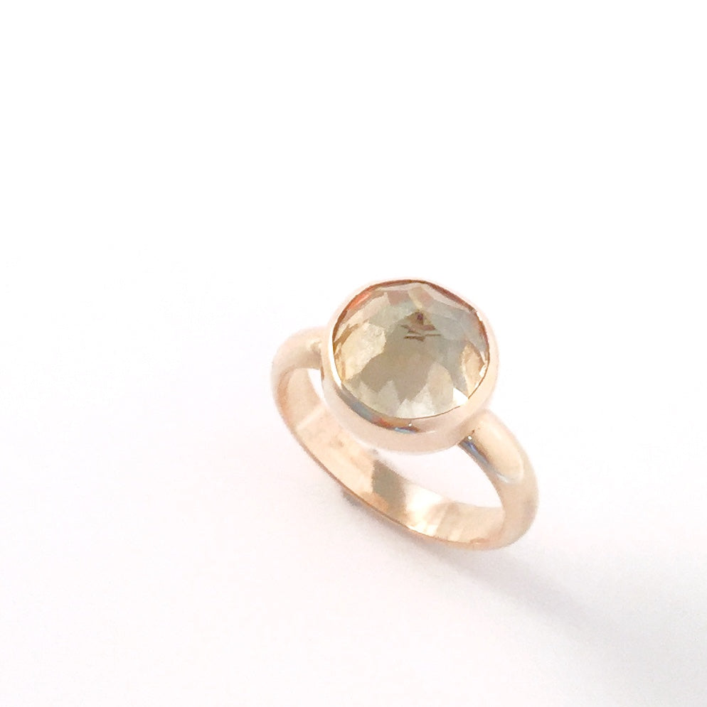 Citrine solitaire