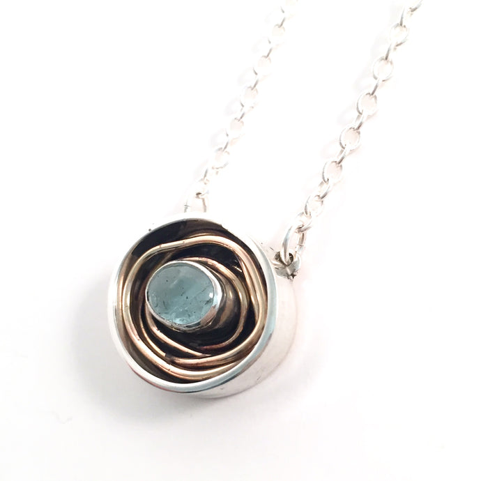 Aquamarine Nest Necklace