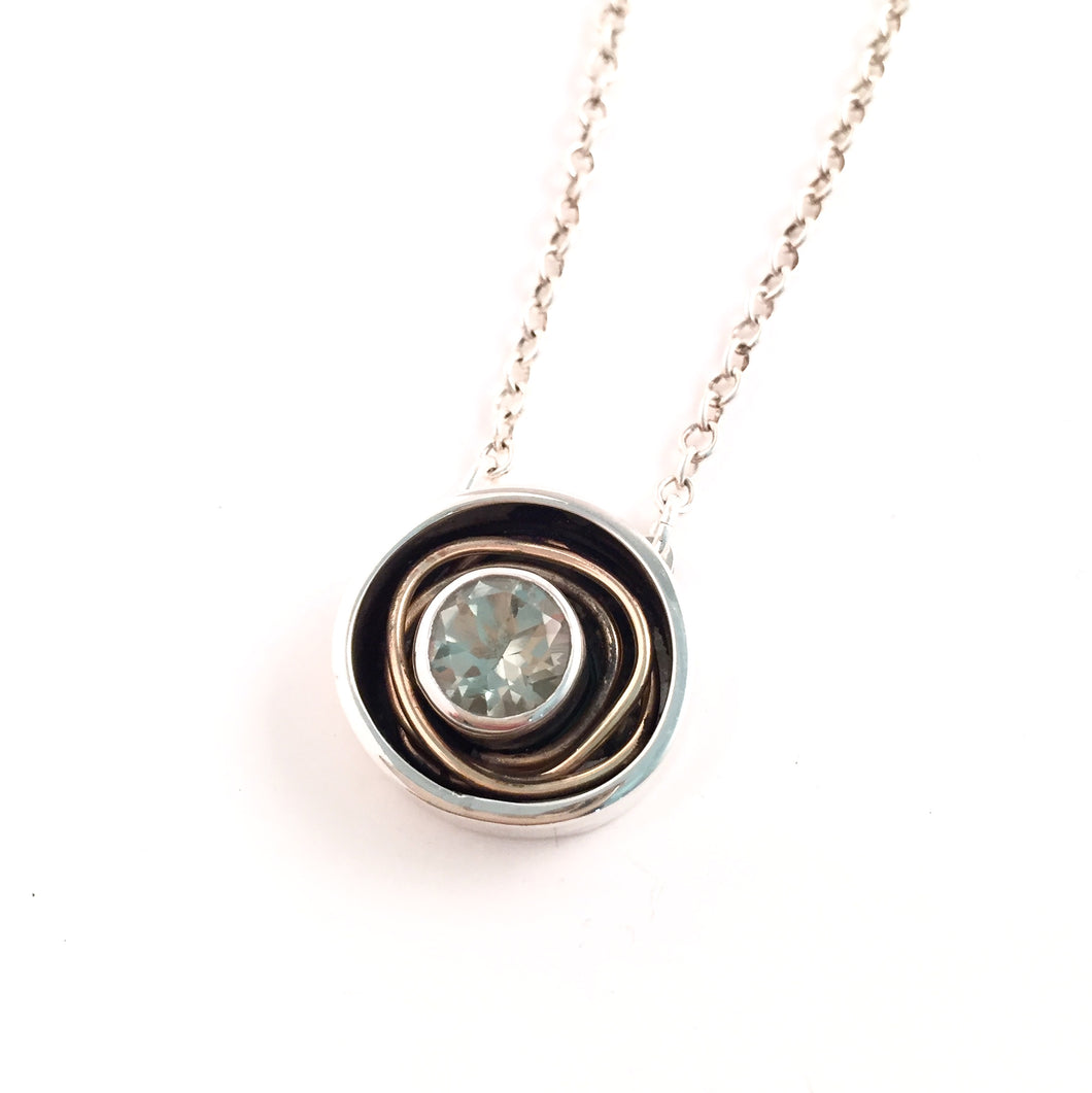 Green Amethyst Nest Necklace