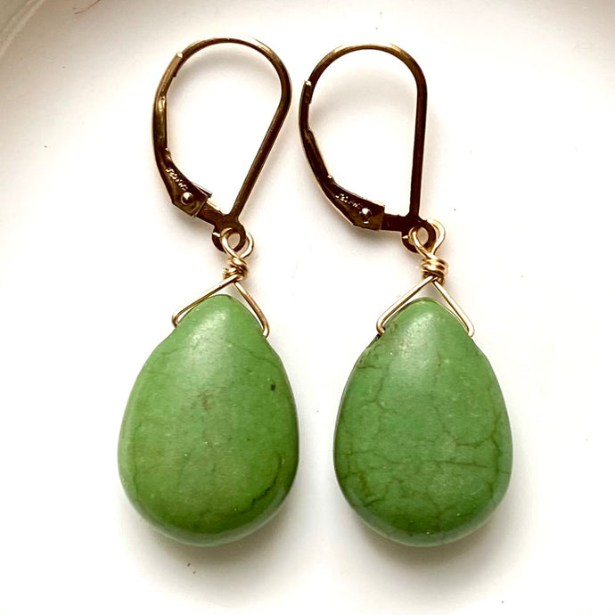 Dyed green Howlite