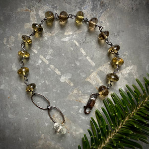 Whisky Quartz Bracelet