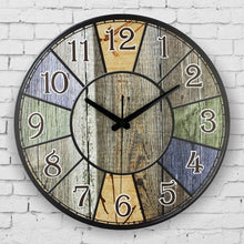 Load image into Gallery viewer, silent large decorative wall clock modern design vintage round wall clock home decor 12888 clock movement home wall watches