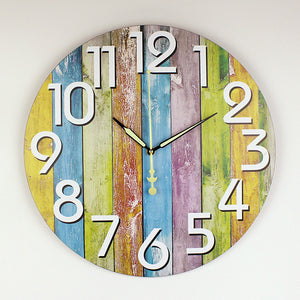 silent large decorative wall clock modern design vintage round wall clock home decor 12888 clock movement home wall watches