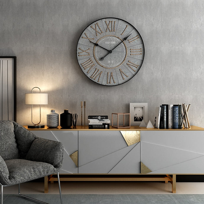 European wall clock new fashion creative living room silent bedroom clock atmosphere art personality restaurant decoration clock
