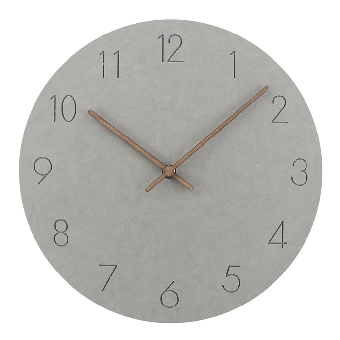 Silent Modern grey clock.  This clock is a quiet piece for any modern decor.