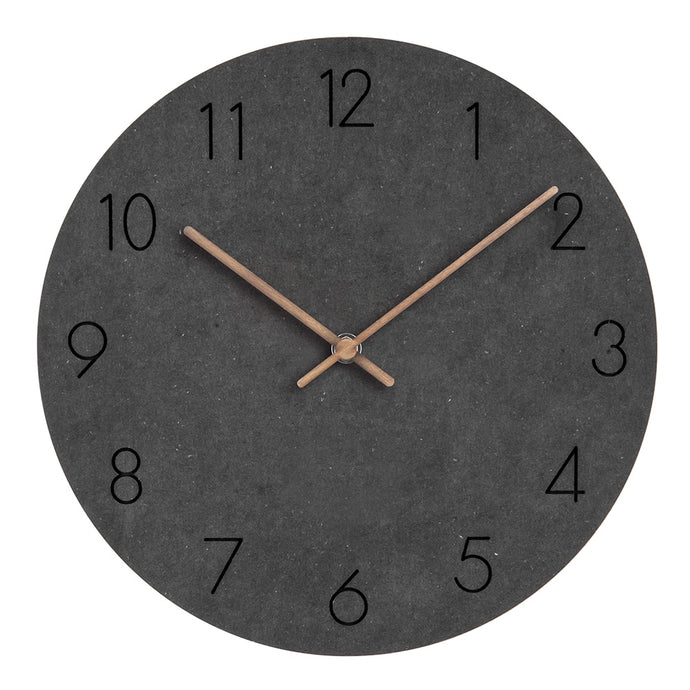 Charcoal, modern design clock.  This clock is silent, and is a favorite when used in modern furnishings.