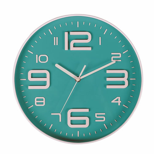 Indoor Big 3D Number Silent Wall Clock Quiet Sweep Movement Wall Clocks Battery Operated 10 Inch