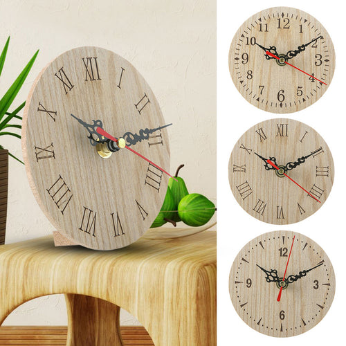 Best Small Wooden Wall Clock Vintage Chic Kitchen Office Living Room Decor Hogard JA10