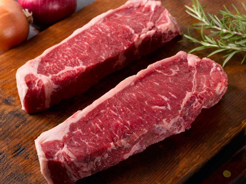 Texas Certified Grass Fed Beef New York Strip Steak | 410 Farms Green Acres Grassfed Beef