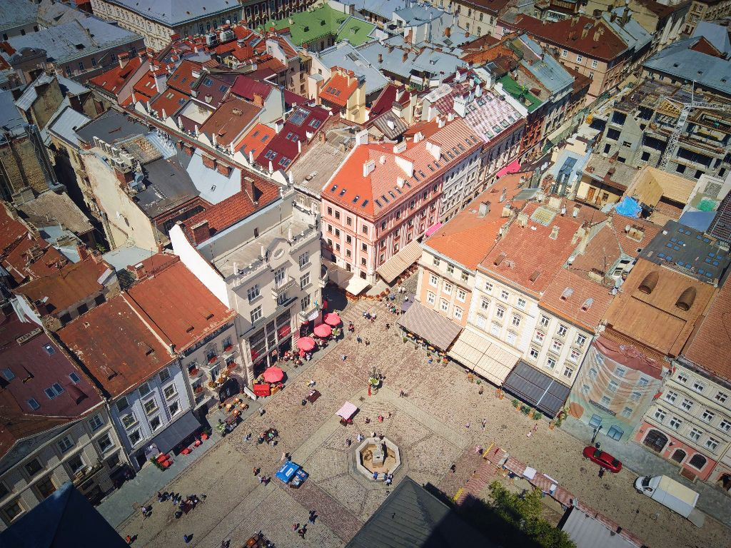 Lviv from birds view