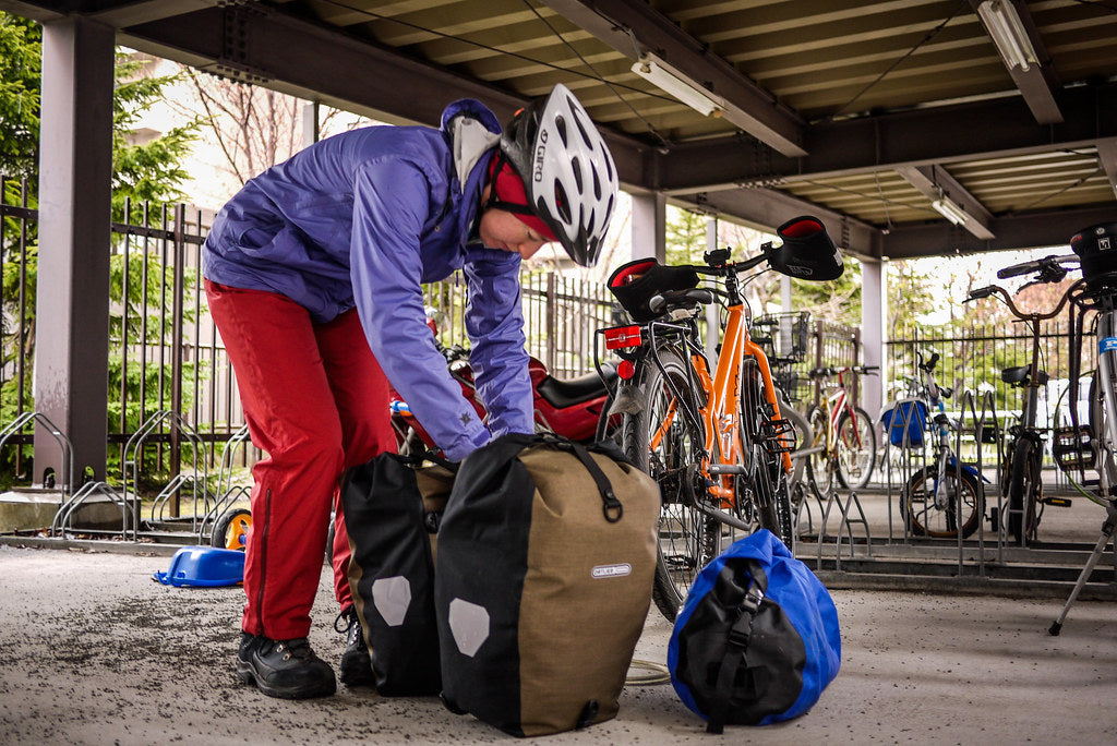 Ortlieb bicycle panniers in Europe