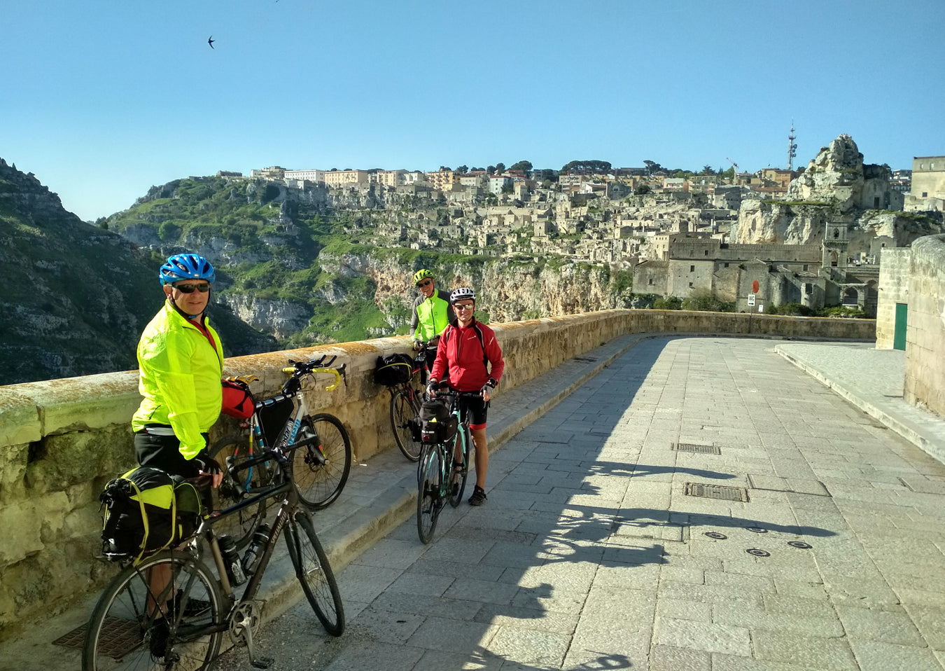 Credit card bicycle tour in Matera Italy
