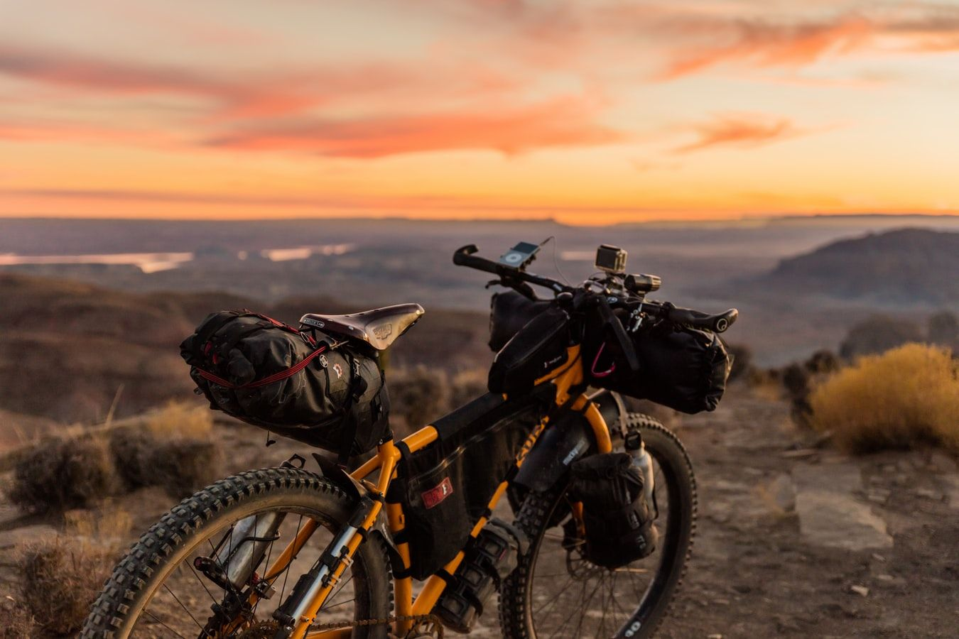 Bikepacking bicycle
