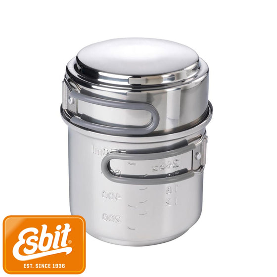Esbit Cookset Stainless Steel 985 ml / 470 ml | Tableware - fullnorth.com