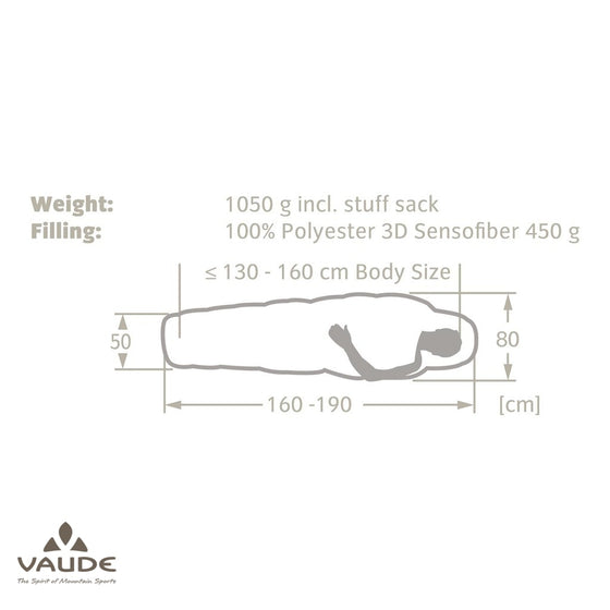 Vaude Dreamer Adjust 450 JR | Sleeping bag - fullnorth.com