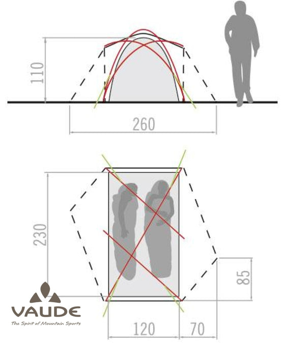 Vaude Invenio Ultralight 2P | Tents - fullnorth.com