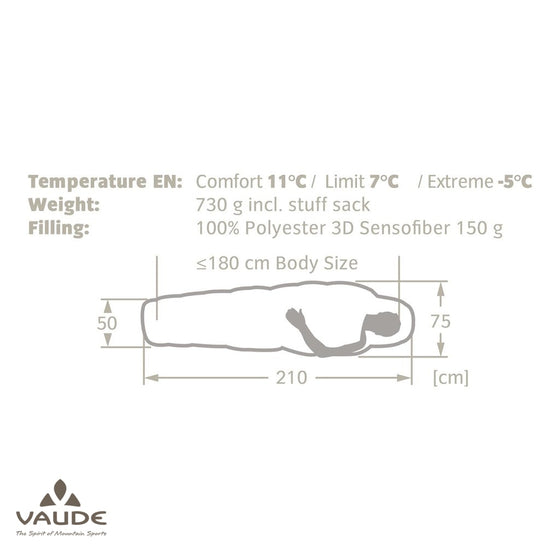 Vaude Sioux 100 SYN | Sleeping bag - fullnorth.com
