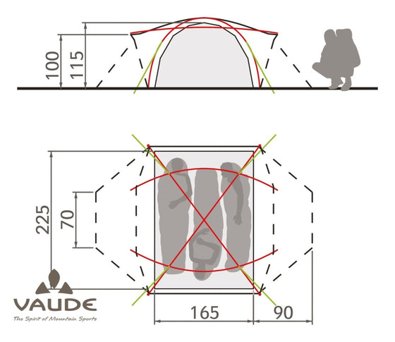 Vaude Space L 3P | Tents - fullnorth.com