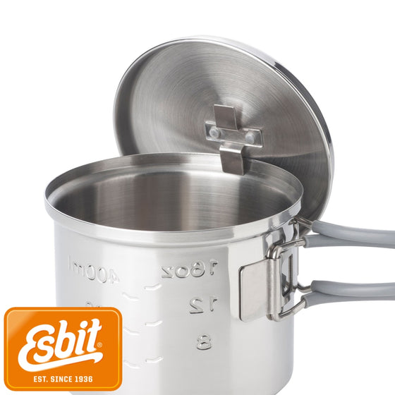 Esbit Stainless Steel Pot 625 ml | Tableware - fullnorth.com