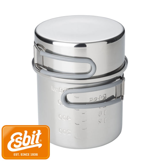 Esbit Stainless Steel Pot Set 1000 ml / 475 ml | Tableware - fullnorth.com