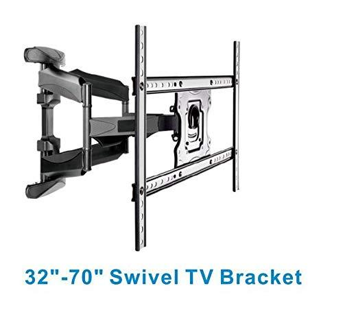 Cornea 32-70 Inches Gas Spring Dual Arm Cantilever TV Mount, Max Vesa 600 x 400 mm (Black)… wall mount Cornea