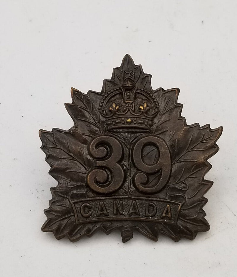 WW! Canadian Military Cap Badge