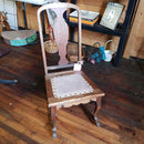 Antique Oak Nursing Rocker