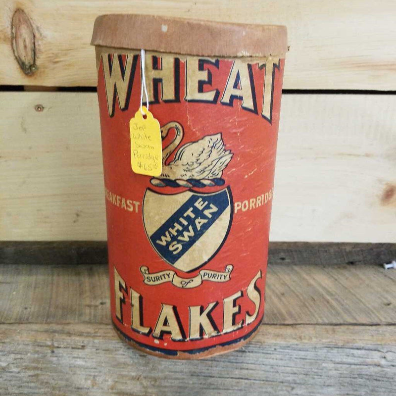 White Swan Wheat Flakes Container (Jef)