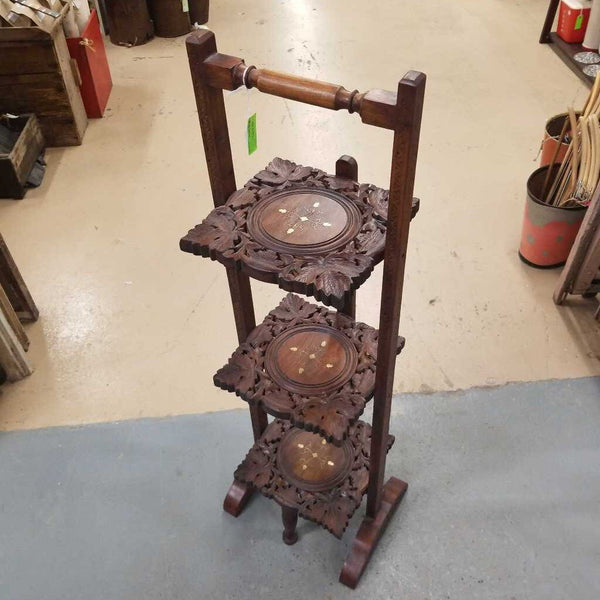 Folding Wooden Cake/Plant Stand (ST)