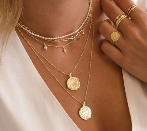 By Charlotte Zodiac pendant necklaces online at PAYA Boutique
