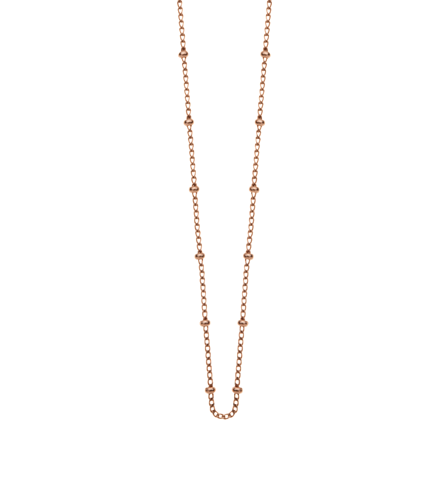 KIRSTIN ASH - Ball Chain Necklace Rose Gold online at PAYA boutique