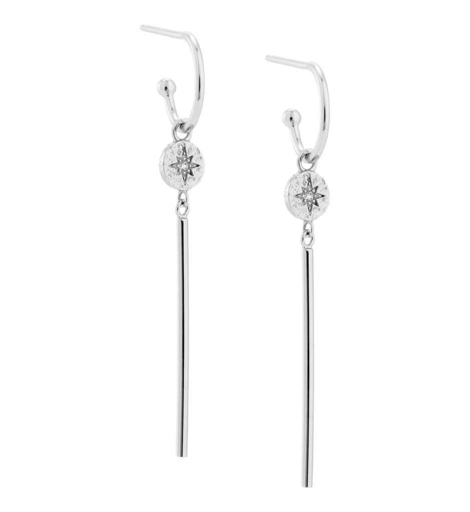 Buy Constellation Bar Hoop Earrings from KIRSTIN ASH at paya boutique