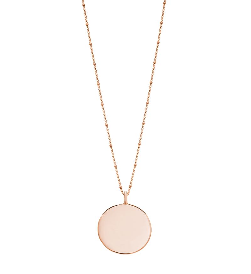 KIRSTIN ASH - Engravable Disc Necklace online at PAYA boutique