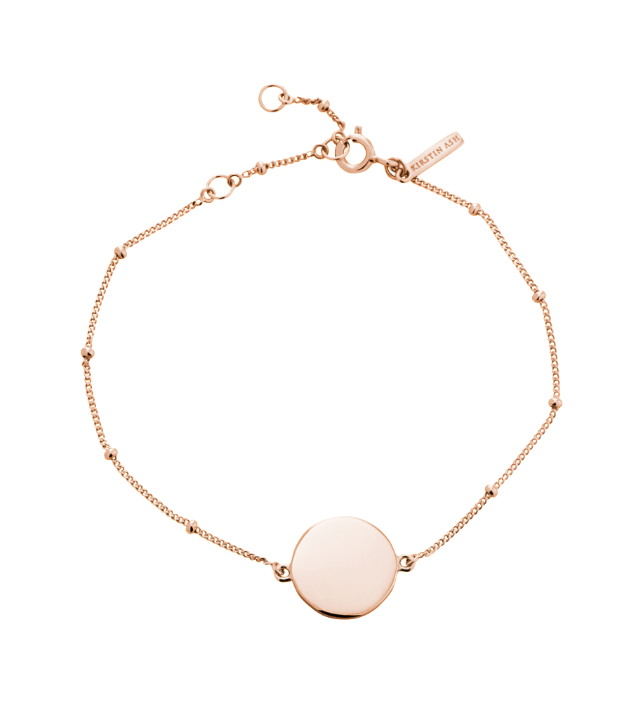 KIRSTIN ASH - Engravable Disc Bracelet online at PAYA boutique