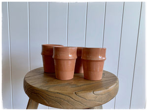 PAYA boutique - Moroccan Beldi Terracotta Cup - Nude online at PAYA boutique