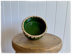PAYA boutique - Raffia edge Ceramic bowl - Green - large online at PAYA boutique
