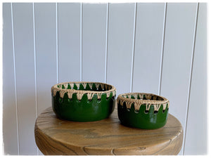 PAYA boutique - Raffia edge Ceramic bowl - Green - small online at PAYA boutique