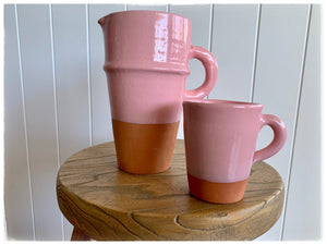 PAYA boutique - Moroccan Beldi Terracotta Mug - Dusty Rose online at PAYA boutique