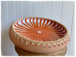 PAYA boutique - Raffia Edge Ceramic Platter - Burnt Orange - Large online at PAYA boutique
