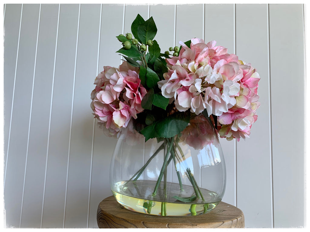 PAYA boutique - Hydrangea Artificial Floral Arrangement - wide vase online at PAYA boutique
