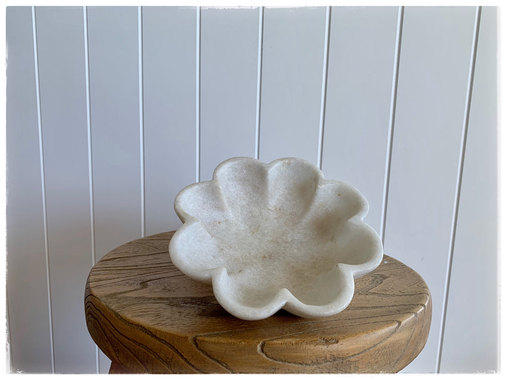 PAYA boutique - Fluted Marble Flower Bowl - small online at PAYA boutique
