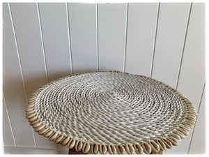 PAYA boutique - Cowrie Shell Edged Placemats - White online at PAYA boutique
