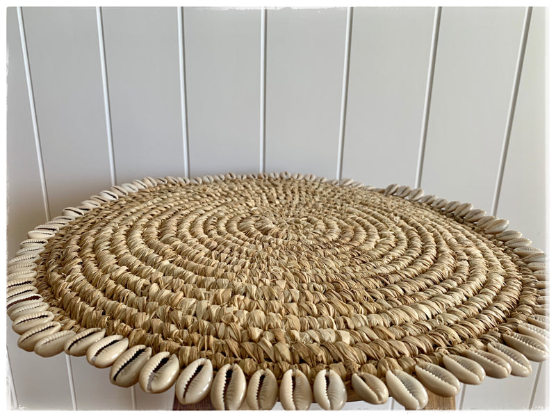 PAYA boutique - Cowrie Shell Edged Placemats - Natural online at PAYA boutique
