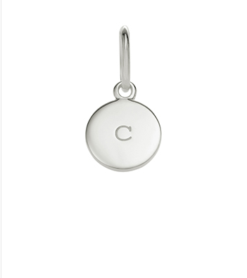 Little Kirstin Ash Circle Letter - c - available online at PAYA bouique