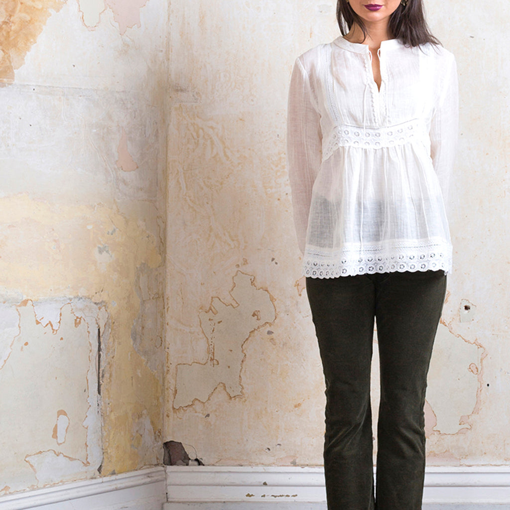 CATHERINE MURPHY - The Essie Blouse - Ivory online at PAYA boutique