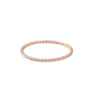 KIRSTIN ASH - Fine Twisted Ring - Rose Gold size 8 online at PAYA boutique