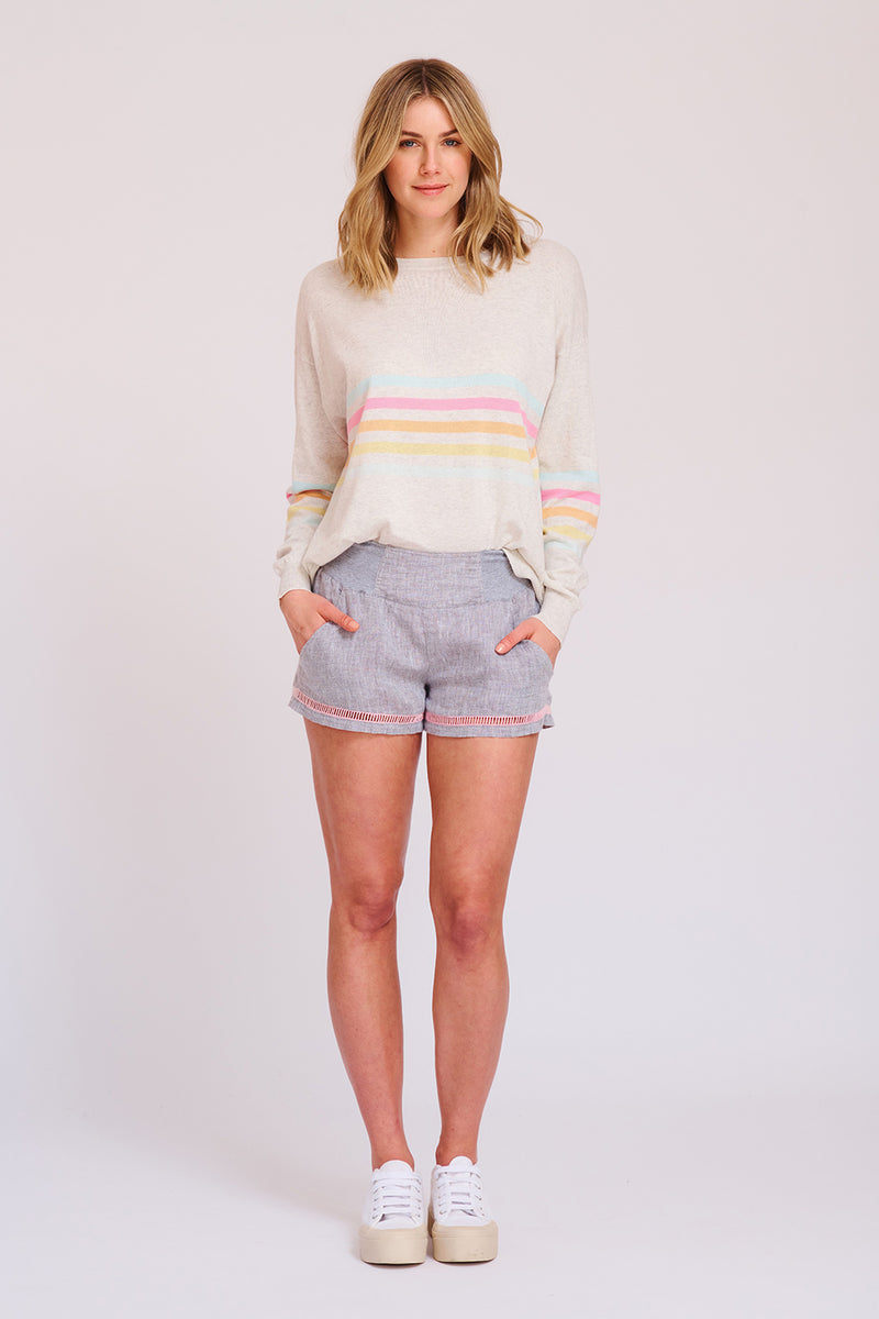 Buy Shortie Shorts with Faggotting from ALESSANDRA at PAYA boutique