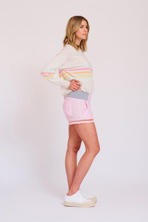 ALESSANDRA - Shortie Shorts with Faggotting online at PAYA boutique