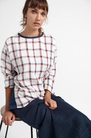 ALESSANDRA - Side Check Top online at PAYA boutique